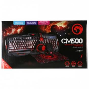 Tastatura Advanced Gaming Kit 4 in 1 Marvo CM500 (tastatura, casti, mouse, mousepad)