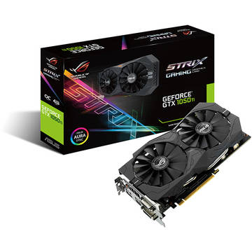 Placa video Asus GF STRIX-GTX1050-O2G-GAMING, GDDR5, 2GB, 128-bit