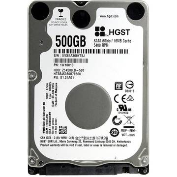 HDD Laptop HGST Hard disk laptop Travelstar Z5K500.B, 500 GB, 5400 RPM, SATA 6GB/s