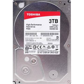 Hard disk Toshiba P300 High-Performance, 3TB, 7200 RPM, SATA 6 GB/s