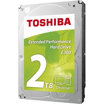 Hard disk Toshiba E300 Low Energy, 2TB, 5700 RPM, SATA 6 GB/s