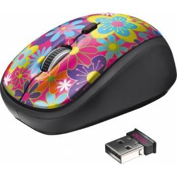 Mouse Trust YVI WIRELESS MOUSE -FLOWER POWER
