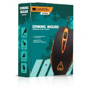 Mouse Canyon Gaming CND-SGM4N, LED backlight, Black