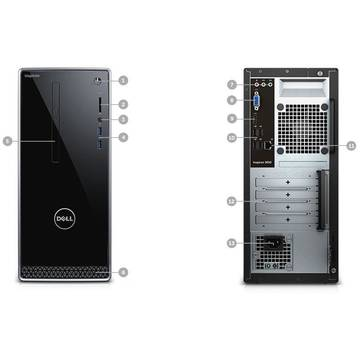 Sistem desktop brand Dell Inspiron 3650, procesor Intel Core i5-6400 3.3GHz, 8GB RAM, 1 TB HDD, video dedicat, Ubuntu Linux 14.04 SP1