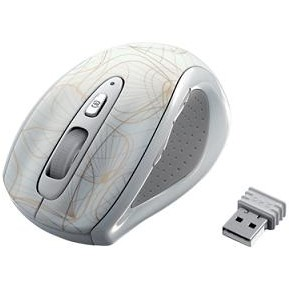 Mouse optic wireless GOLD, alb