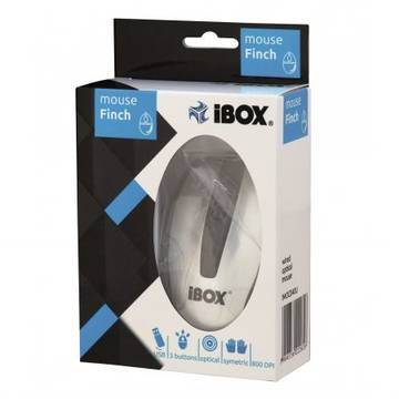 Mouse iBOX optic FINCH, USB, argintiu