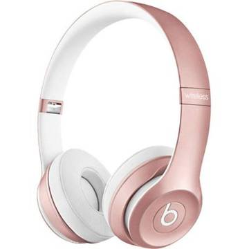 Casti Apple Beats mllg2zm/a, Solo2 Wireless, On-Ear, roz