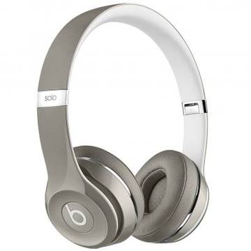 Casti Apple Beats mla42zm/a, Solo2, On-Ear,Luxe Edition, argintiu