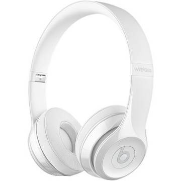 Casti Apple Beats mnep2zm/a, Solo3 Wireless, On-Ear, alb