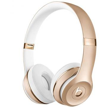 Casti Apple Beats mner2zm/a, Solo3, Wireless, On-Ear, auriu