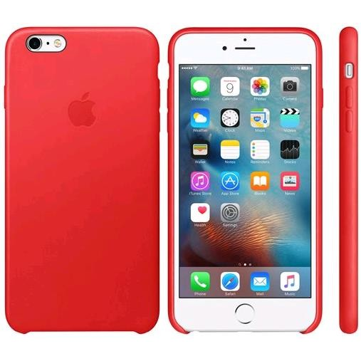 Apple iPhone 6s Plus Leather Case - RED