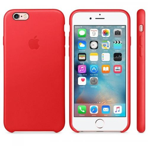 Apple iPhone 6s Leather Case - RED