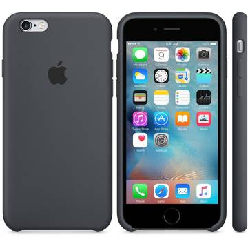 Husa Apple iPhone 6s Plus Silicone Case - Charcoal Gray