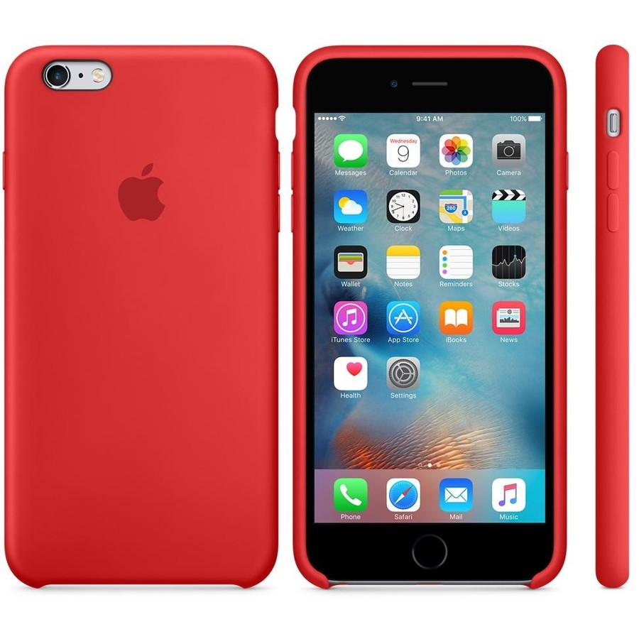 Apple iPhone 6s Plus Silicone Case - RED