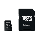 Card memorie PHILIPS MICRO SDHC CARD FM08MP35B/10, 8GB, CLASS 4+ADP