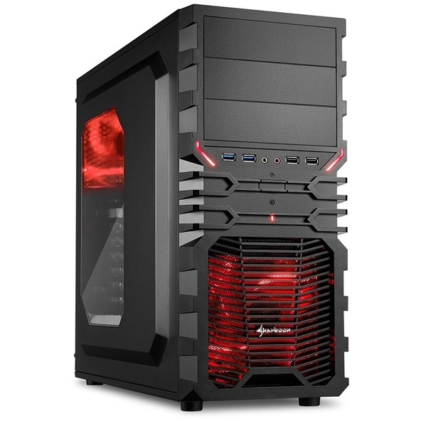 Carcasa VG4-W RED ,ATX ,TOWER , Micro ATX , Mini ITX