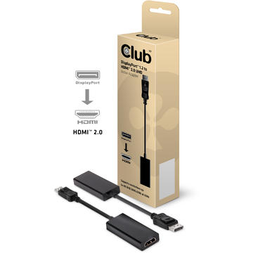Club 3D Cablu CAC-1070, DP 1.2 to HDMI, adaptor activ