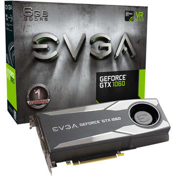 Placa video EVGA , VGA, GTX1060, 6GB, Gaming (Blower), DDR5, 192-bit