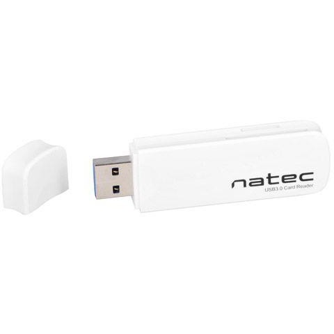 Card reader Natec Mini Card Reader SCARAB SD/Micro SD, USB 3.0 White