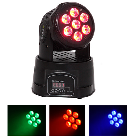 MOVING HEAD 7X10W 4 IN 1 LED RGBW