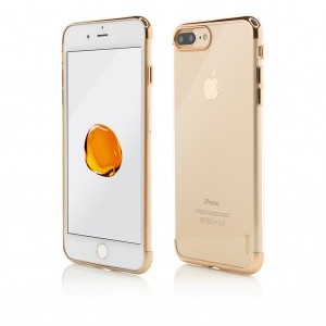 iPhone 7 Plus | Clip-On Shiny Soft Series | Gold