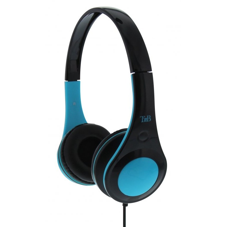 Casti TnB DOTCOM BLUE HEADPHONES WIRED,ADJUSTABLE HEADBAND