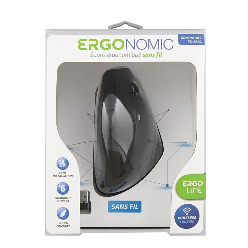 Mouse WIRELESS ERGONOMIC LASER MOUSE VERTICAL