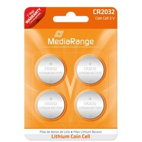 MediaRange Lithium Cion Cells, CR2032/3v Pack 4
