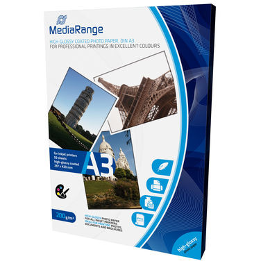 Hartie foto MediaRange DIN A3 Photo Paper for inkjet printers, high-glossy c
