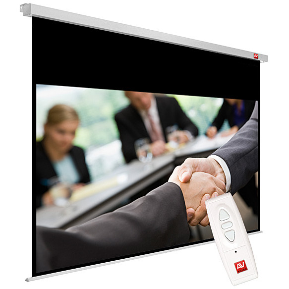 Avtek Business Electric 240 (projection area 235x147cm; 16:10; Matt-White; black borders)