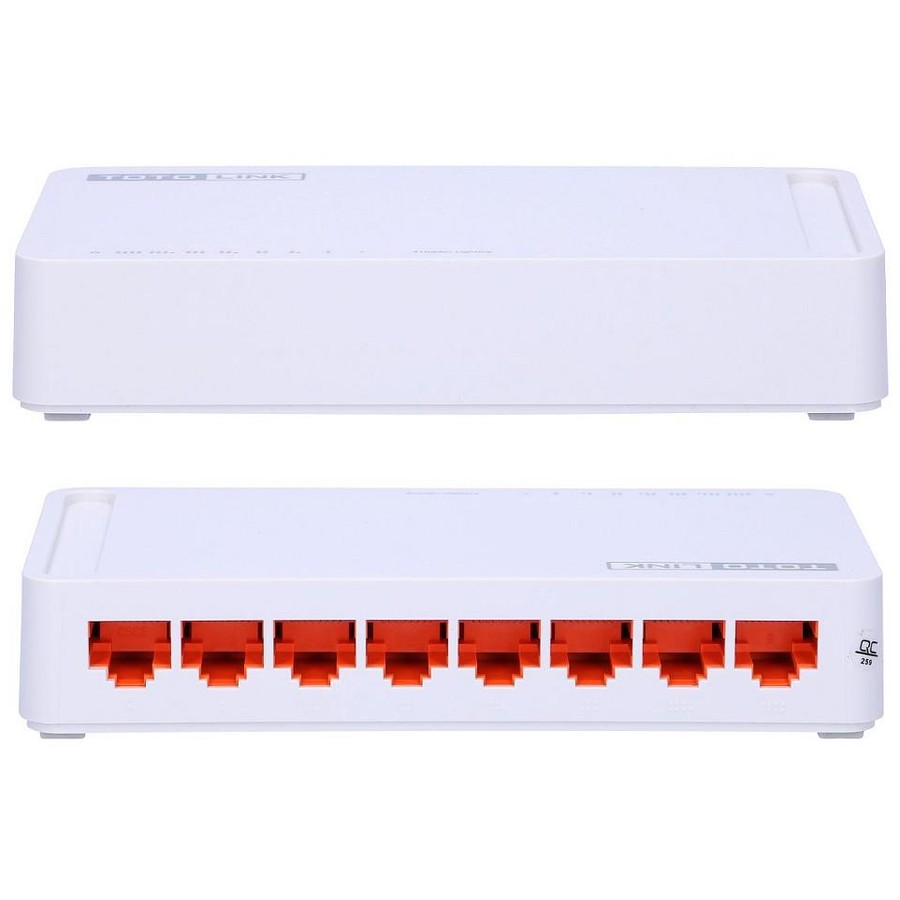 Switch S808 8-Port Desktop/Wall-mount 10/100Mbps Fast Ethernet Switch