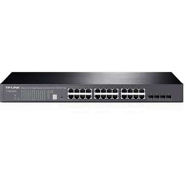 Switch TP-LINK JetStream 24-Port Gigabit Stackable Smart Switch with 4 sloturi 10GE SFP+