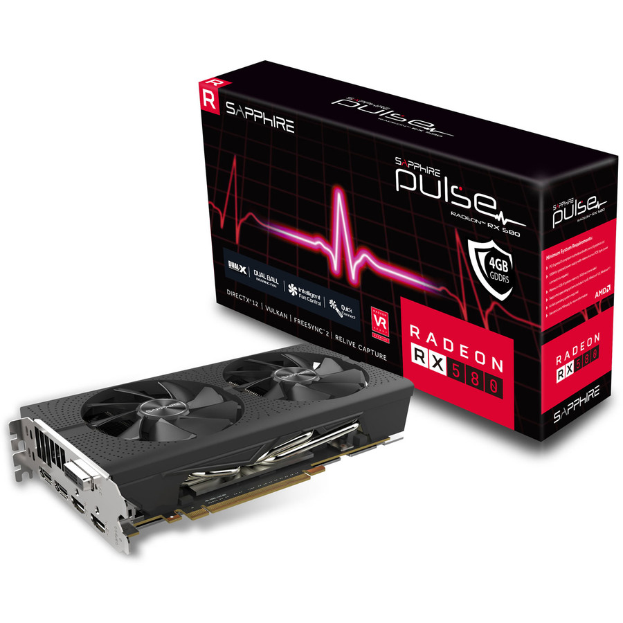 Placa video RADEON 11265-09-20G, RX 580, 4GB, GDDR5 PULSE