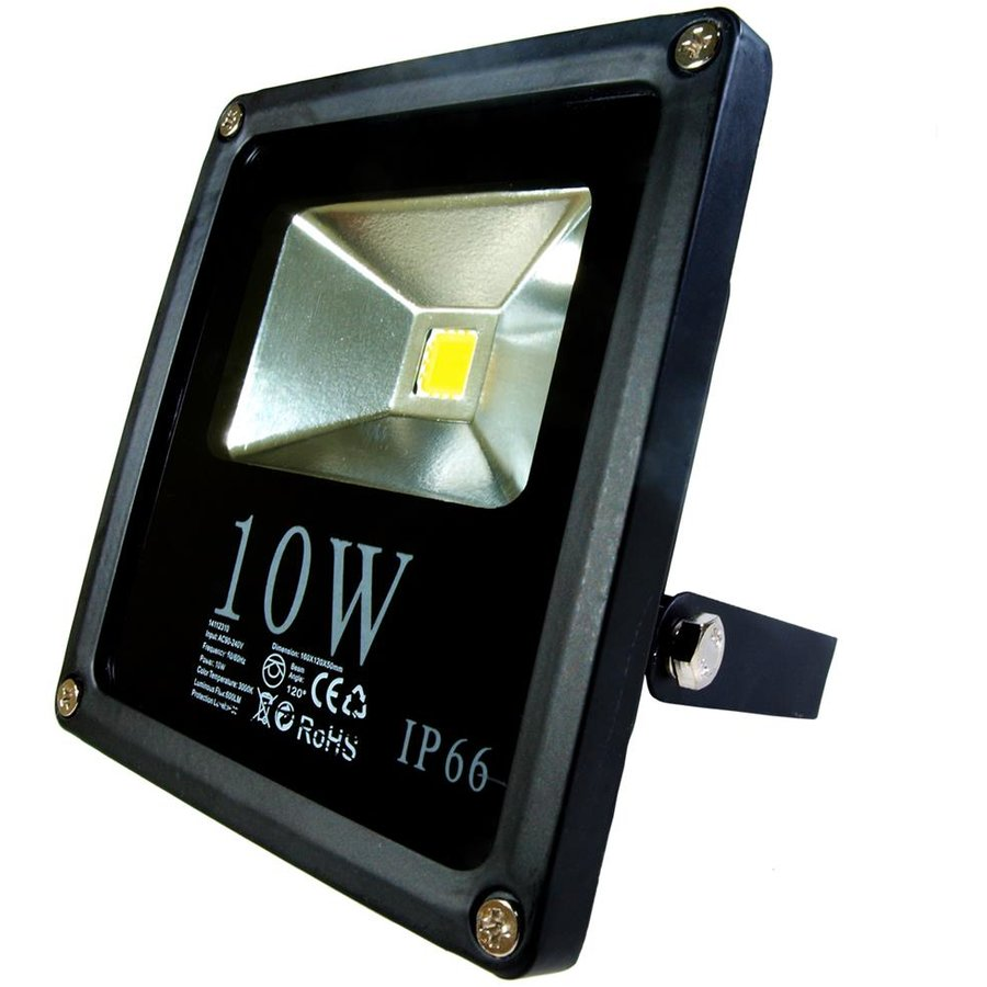 ART External lamp LED 10W, SLIM, IP66,AC80-265V,black, 4000K-white