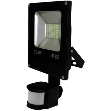 ART External lamp LED 20W,SMD,IP65, AC80-265V,black, 4000K-W, sensor
