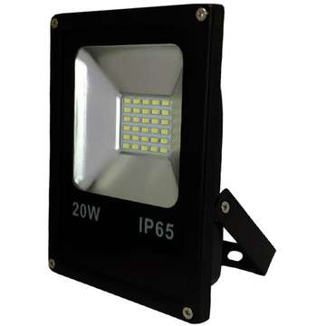 ART External lamp LED 20W,SMD,IP65, AC80-265V,black, 6500K-CW