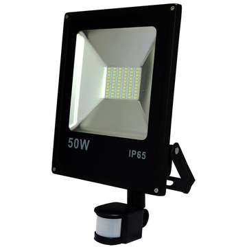 ART External lamp LED 50W,SMD,IP65, AC80-265V,black, 4000K-W, sensor