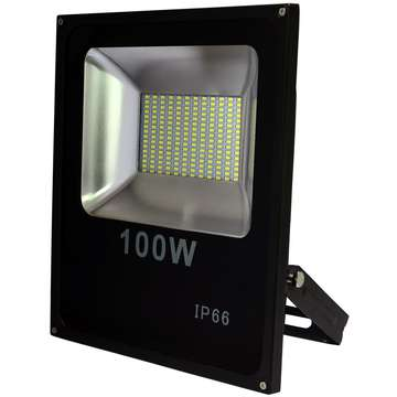 ART External lamp LED 100W,SMD,IP66, AC80-265V,black, 6500K-CW
