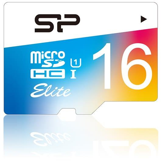 Card memorie Silicon Power memory card Micro SDHC 16GB Class 1 Elite UHS-1 +Adapter