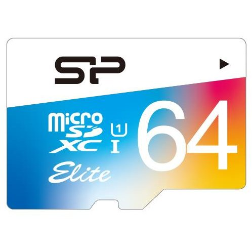 Card memorie Silicon Power memory card Micro SDXC 64GB Class 1 Elite UHS-1 +Adapter