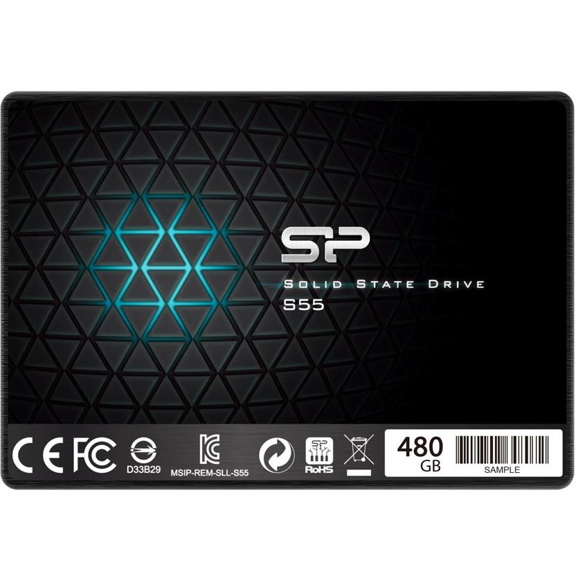 SSD Silicon Power SSD Slim S55 480GB 2.5'', SATA III 6GB/s, 560/530 MB/s, 7mm