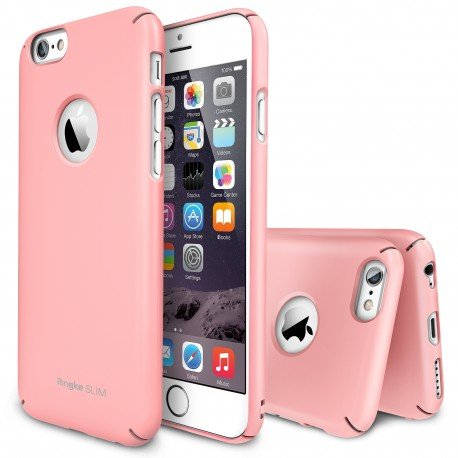 Husa iPhone 6 Ringke SLIM PINK LOGO CUT