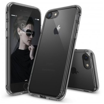 Husa iPhone 7 Ringke / iPhone 8 FUSION SMOKE BLACK