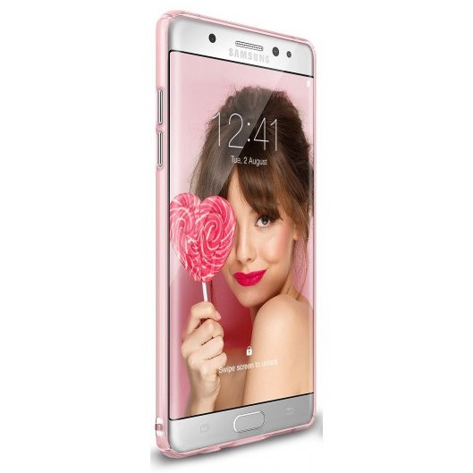 Husa Samsung Galaxy Note 7 Fan Edition Ringke Slim FROST PINK
