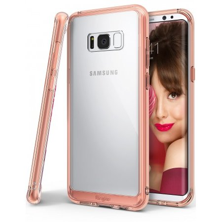Husa Samsung Galaxy S8 Plus Ringke Fusion Rose Gold