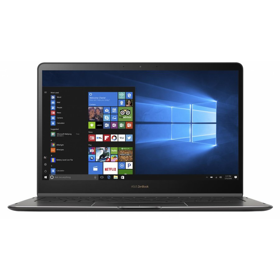 Ultrabook ZenBook Flip UX370UA-C4219T, FHD Touch, Intel Core i7-8550U, 8GB, 256GB SSD, GMA UHD 620, Win 10 Home, Grey/Sand Blasted