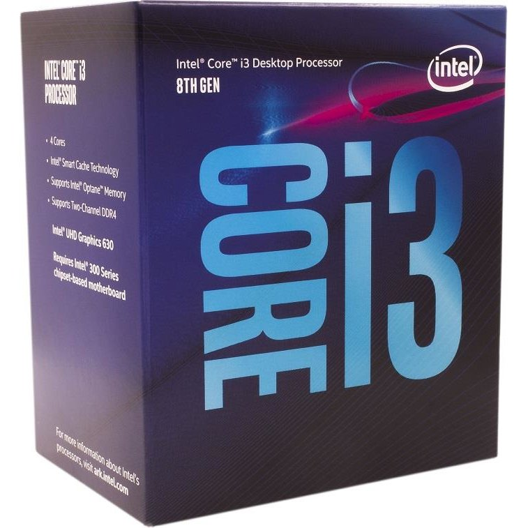 Procesor Intel Core i3-8100, Coffe Lake, Quad Core, 3.60GHz, 6MB, LGA1151v2, 14nm, BOX
