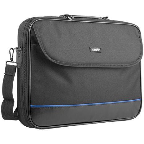 Laptop Bag IMPALA Black-Blue 17,3'' (stiff shock absorbing frame)