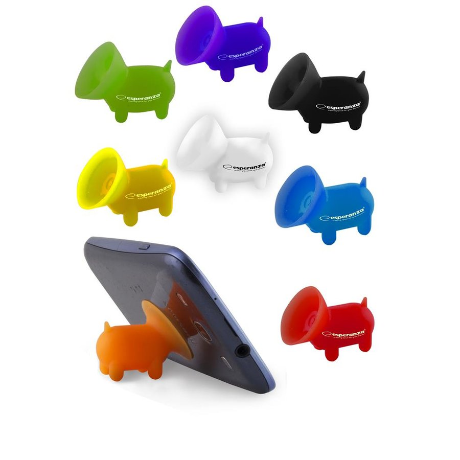 EMS111 Silicon Stand for Mobile and Notebook - PIG shape