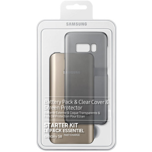 BatteryPack Kit Clear Cover + Screen Protector + 5.2Ah Battery Pack + C type gender pentru Galaxy S8